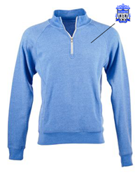 Triblend Quarter Zip Sweatshirt (all logoing will be like your jersey)