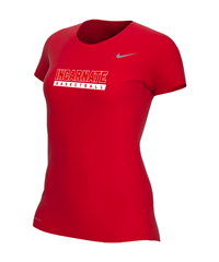 Nike Womens Dry Fit S/S Shirt- Red