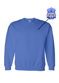 Dry Blend Sweatshirt Royal (all logoing will be like your jersey)